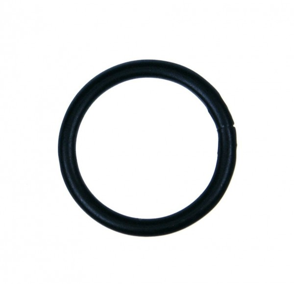 25mm toroidal ring (inner measurement) - made of steel - color: black - 10 pieces