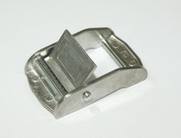 clamping buckle made of zinc die casting - up to 400kg size small - for 25mm wide webbing - 1 piece