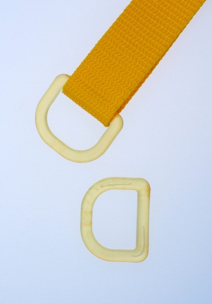 25mm D-ring - yellow transparent - 5 pieces