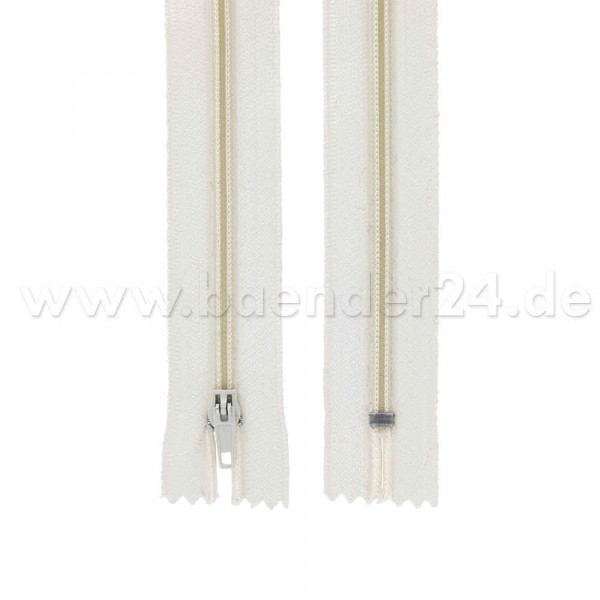 25 zippers 3mm - 20cm long - color: cream