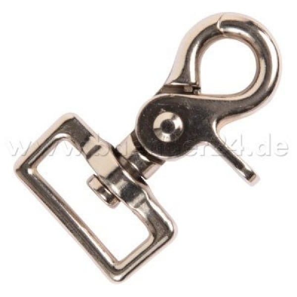 scissor carabiner made of zinc die casting, 5,9cm long, for 25mm wide webbing - 10 pieces