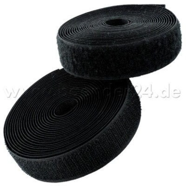 4m Velcro (Velcro & Hook) 100mm wide, color: black - for sewing