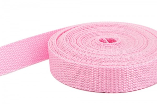 10m PP webbing - 10mm width - 1,4mm thick - orchid pink (UV)