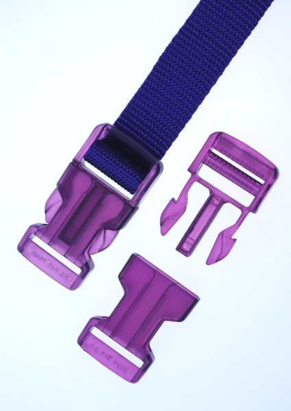 40mm buckle - purple transparent - 1 piece