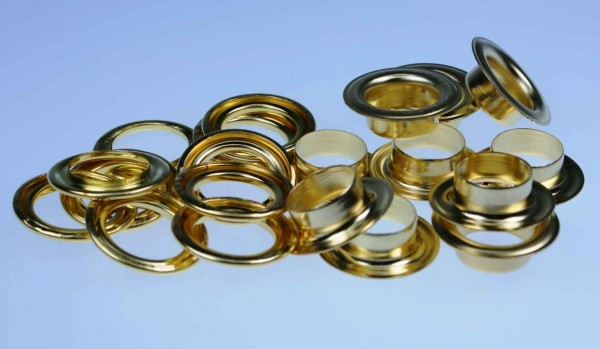 loops with counterparts- 11mm - color: gold - 10 pieces