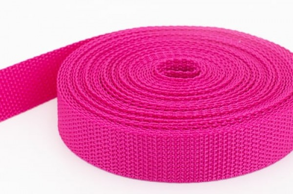 10m PP webbing - 30mm width - 1,2mm thick - orchid rose (UV)