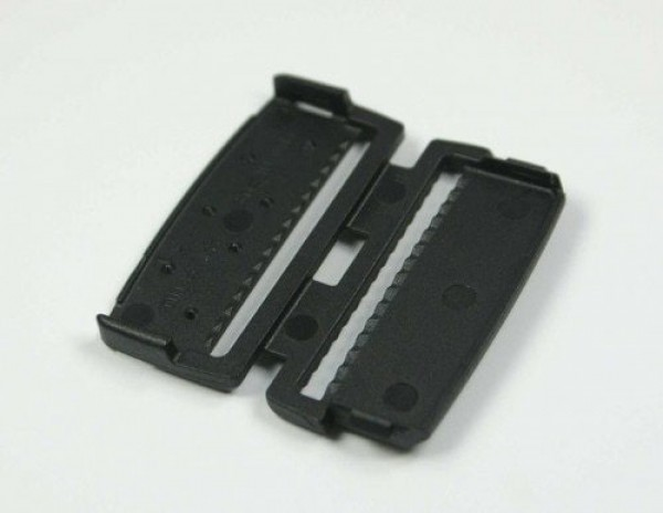 webbing ends, terminal, for 40mm wide webbing - 10 pieces