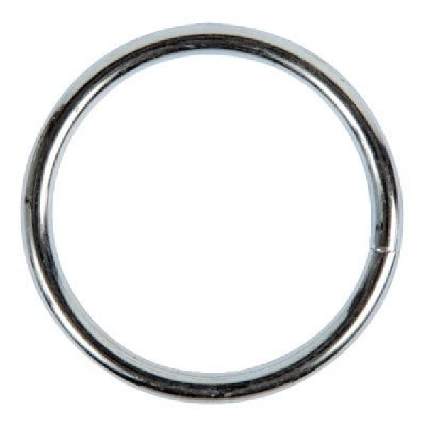 60mm o-ring (inner measurement) - welded made of steel - galvanized - 1 piece