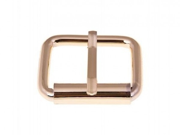 roll buckle made of round steel - gold - 28 x 19 x 6mm - 10 pieces