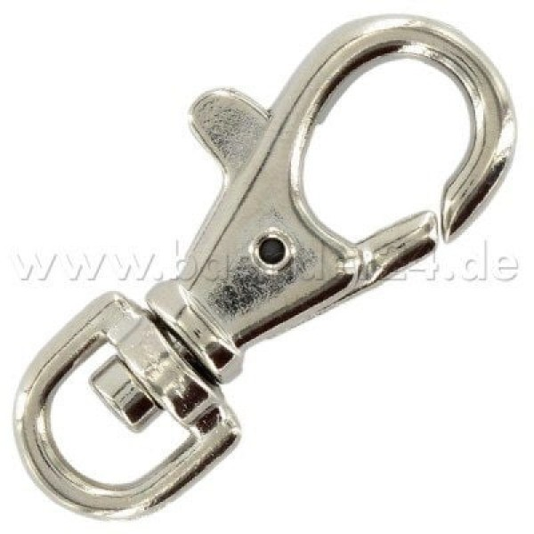 carabiner made of zinc die casting, 6 x 39mm round - 10 pieces