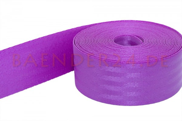 50m safety belt - purple - polyamide, 38mm wide - loadable up to 1,5t