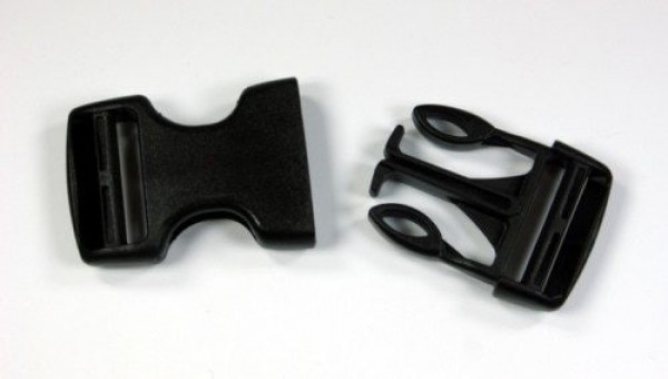 buckles made of acetal for 25mm wide webbing - adjustable from both sides - 1 piece