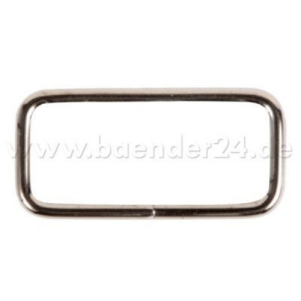square ring - made of steel - nickel-plated - 20mm hole - 10 pieces