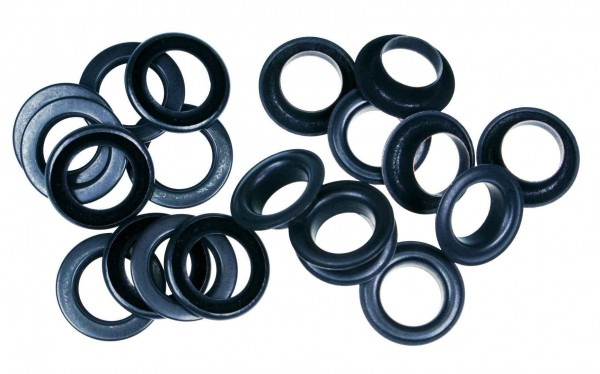 loops with counterparts - 14mm - color: black-oxided - 10 pieces