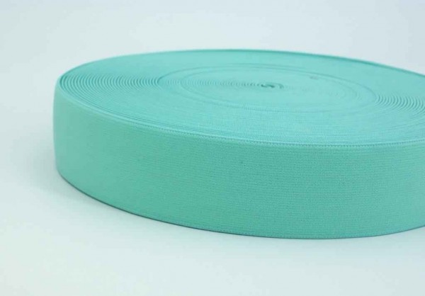 elastic webbing - 40mm wide - color: mint green - 3m roll