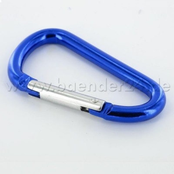 10 key carabiner made of aluminum - 48mm long - color: blue