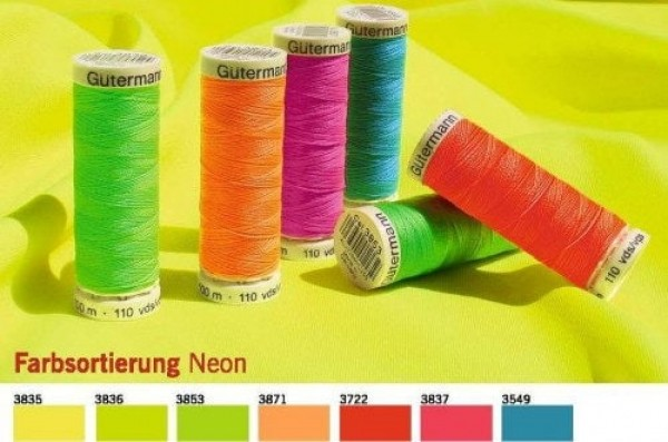 Gütermann Sew-all Thread NEON - 100m - color: hot pink 3837