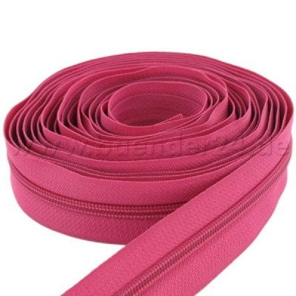 5m slide fastener, 5mm rail, color: orchid rose
