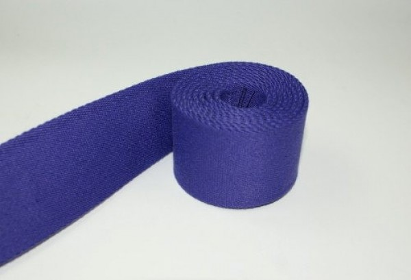 1m belt strap / bags webbing - color: purple - 40mm wide