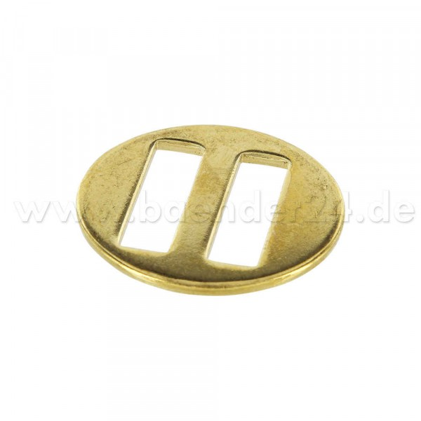 Slide buckle for head-collar, brass-plated, for 25mm webbing, 1 piece