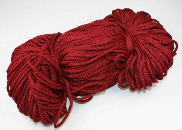 2mm thick polyester cord - 100m length - color: bordeaux