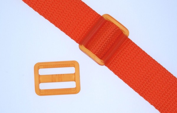 25mm strap adjuster - orange transparent - 1 piece
