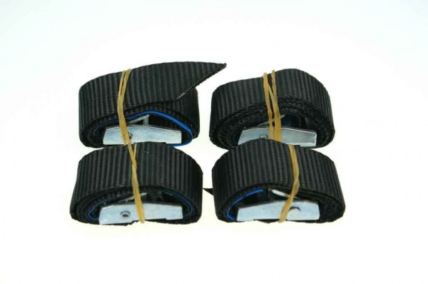 20mm load restraint assembly with buckle - breaking load 180kg - 40cm long - color: black - 4 pieces