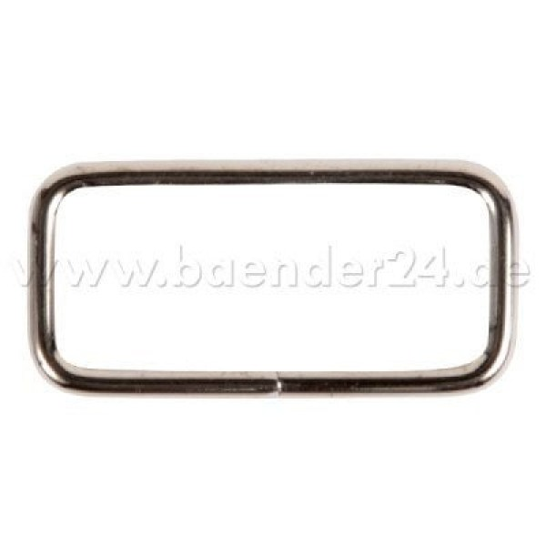 square ring - made of steel - nickel-plated - 25mm hole - 10 pieces
