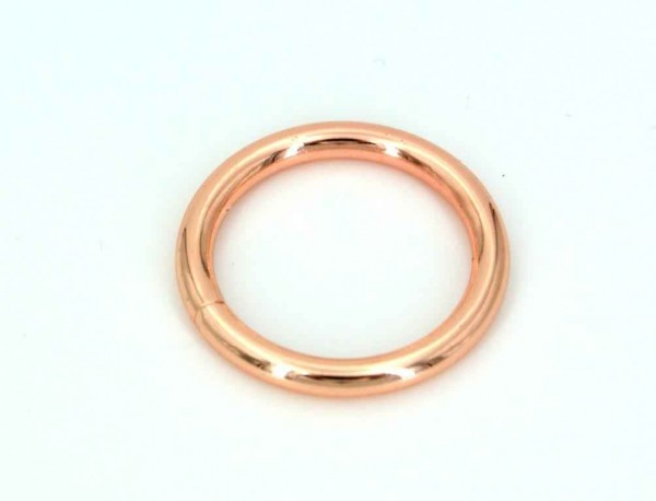 16mm toroidal ring welded made of steel - rose gold - 10 pieces
