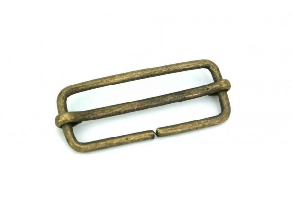 regulator made of steel, old brass - for 30mm webbing - 10 pieces