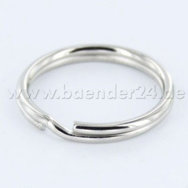 16mm key ring made of spring steel - 13mm inner diameter - 10 pieces