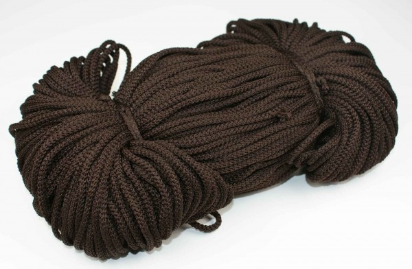 2mm thick polyester cord - 100m length - color: dark brown