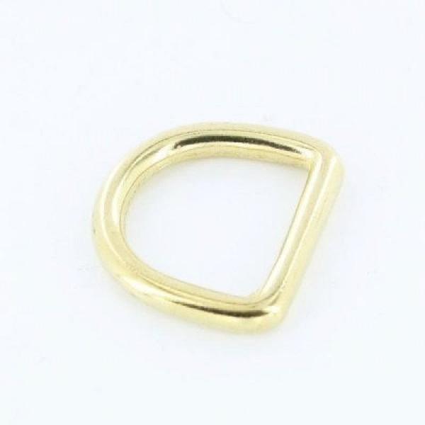 Brass D-rings, 23mm inner dimension - 10 pieces