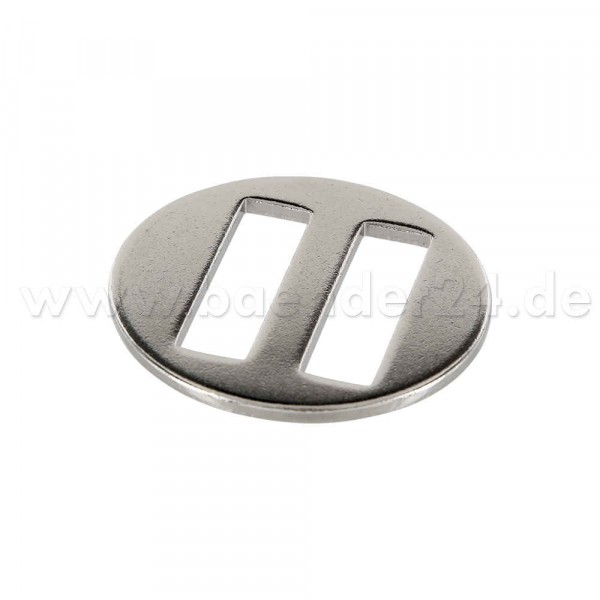 sliding buckle for halter, nickel plated, for 25mm wide webbing, 10 pieces