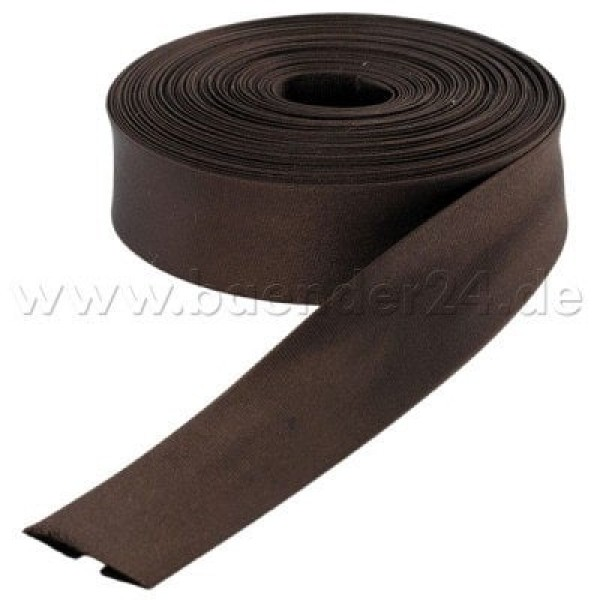 10m binding made of polyester, 16mm wide, color: dark brown