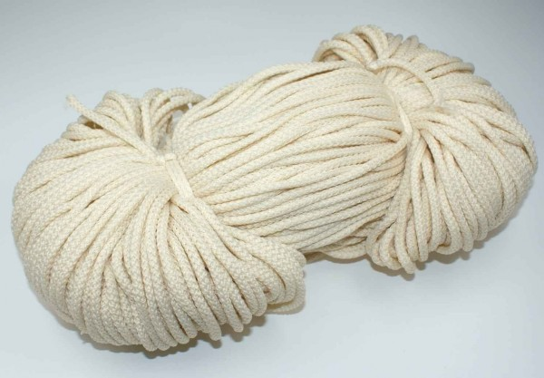 2mm thick polyester cord - 100m length - color: cream