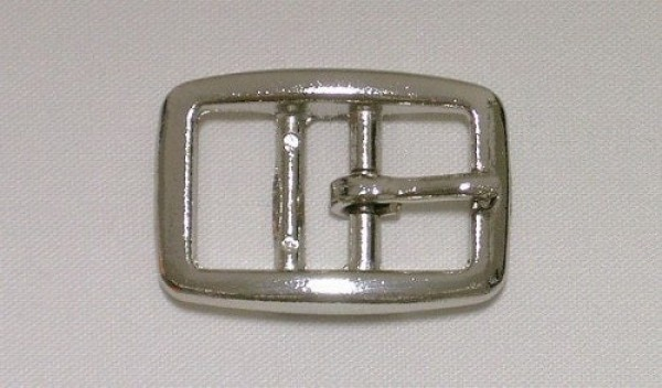 buckle with two bars made of zinc die casting, nickel plated - for 25mm wide webbing - 10 pieces