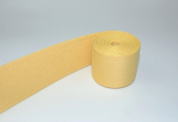 1m belt strap / bags webbing - color: mustard yellow - 40mm wide