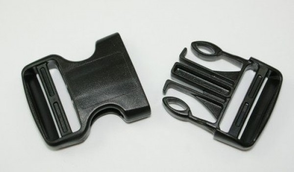 buckles made of acetal for 40mm wide webbing - adjustable from both sides - 1 piece