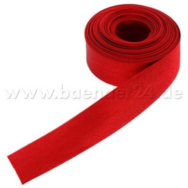 10m binding made of polyester, 16mm wide, color: red