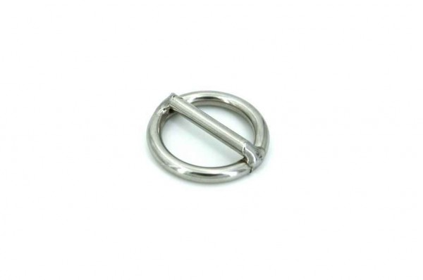 20mm ring with bar (inner measurement) made of stainless steel - 10 pieces