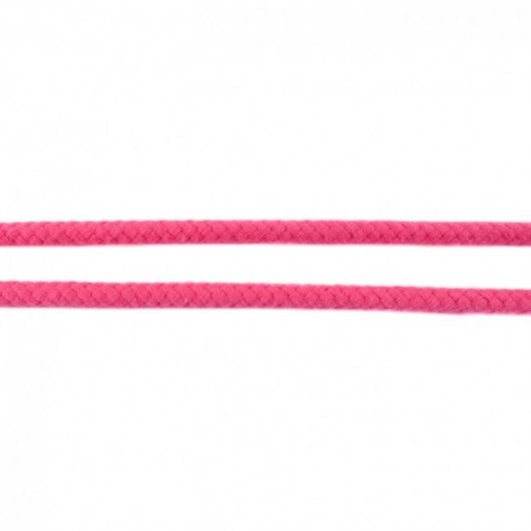 5m cotton cord - colour: pink - 8mm thick