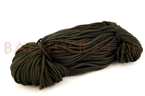 2mm thick polyester cord - 100m length - color: dark khaki