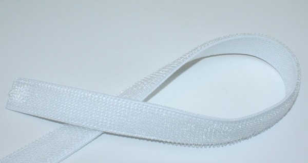 1m elastic loop band Lycra Heavy - 20mm wide - color: white