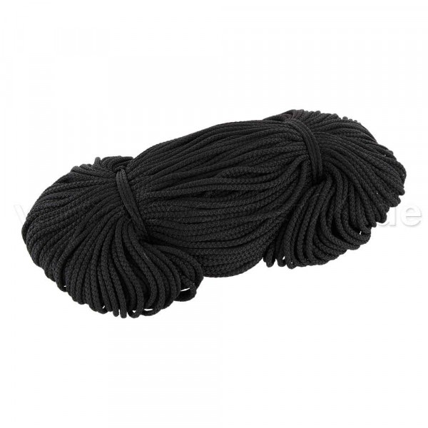 2mm thick polyester cord - 100m length - color: black