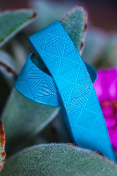 3m roll webbing Design by Lila-Lotta - 15mm wide, forest turquoise