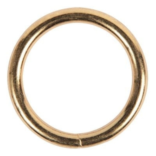 40mm o-ring (inner measurement) - brass-plated - welded, made of steel - 1 piece