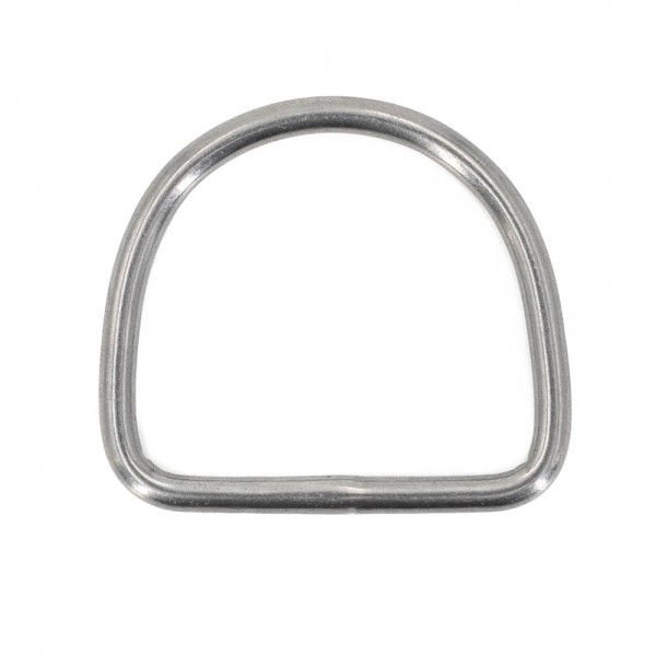 D-ring made of stainless steel, 20mm inner measurement, 4mm thickness - 10 pieces