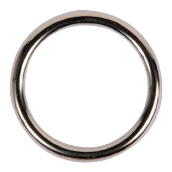 50mm o-ring (inner measurement) made of stainless steel, 8mm thick, welded - 1 piece