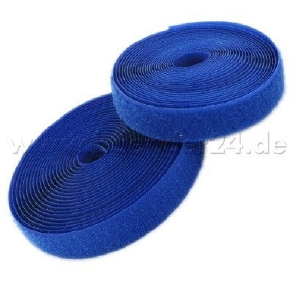 25m Velcro tape, 25mm wide, color: blue, 25mm wide, 25m roll